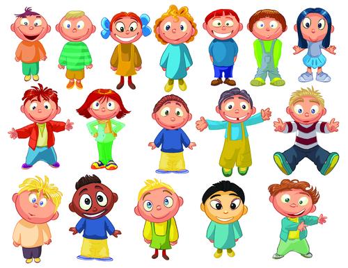 Cute kids illustration vector