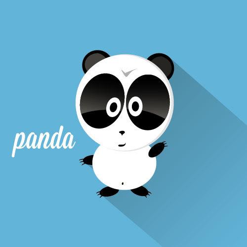 Cute panda icon vector