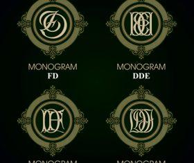 DDE monograms in vector