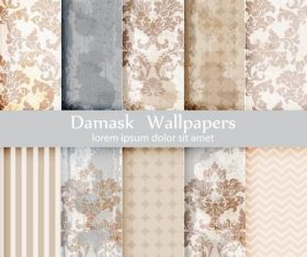 Damask wallpapers vector