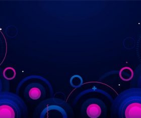 Dark background colorful circle vector