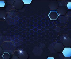 Dark blue grid background vector