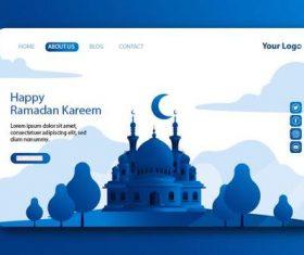Dark blue login website page design vector