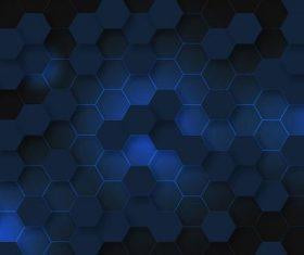 Dark grid background vector