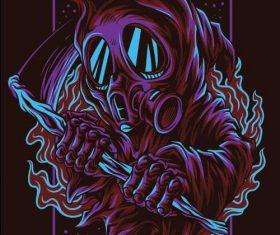 Dark myth T-shirt print pattern background vector