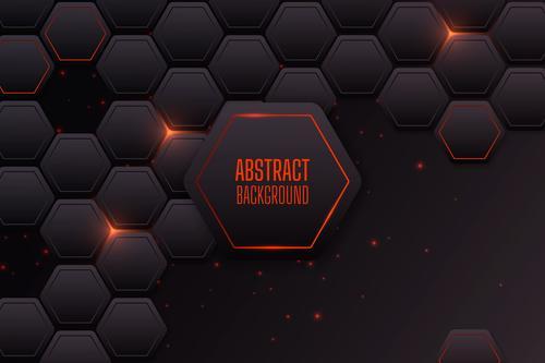 Dark red grid background vector