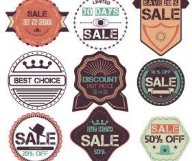 Dark vintage badges vector