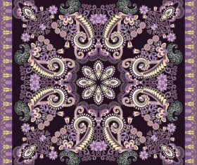 Decorated with colorful bandanna vector on dark purple background