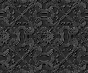 Decorative engraving pattern vector