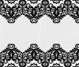 Decorative lace flower pattern vector