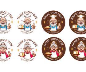 Delicious bakery logo design vector