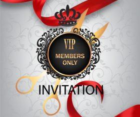 Design VIP members only invitation vector