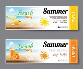 Design beautiful beach party banner vector