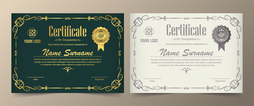Design certificate cover vector