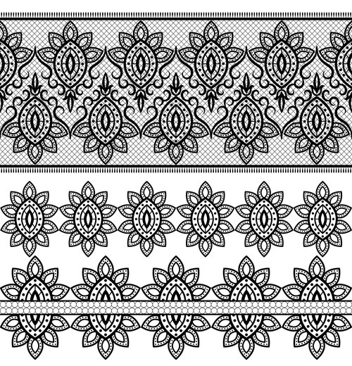 Design different style flower decorative pattern vector