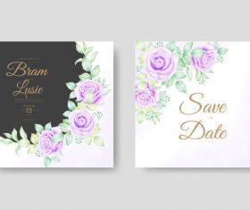 Design floral wedding card vector