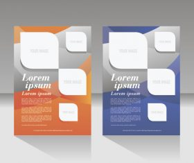 Design flyer layout vector