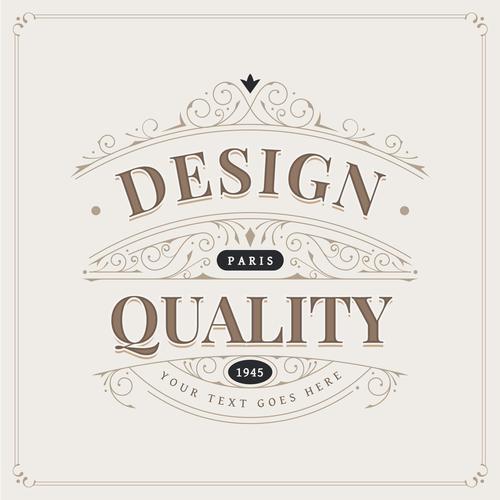 Design paris quality retro vector