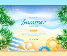 Design travel website page vector
