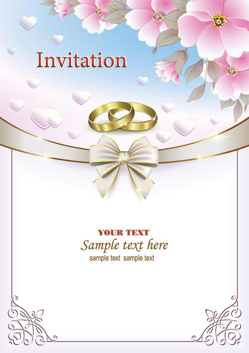 Design wedding invitation card vector