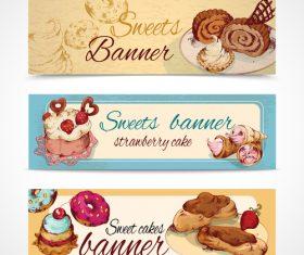 Dessert banner vector
