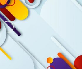 Different shapes abstract background vector