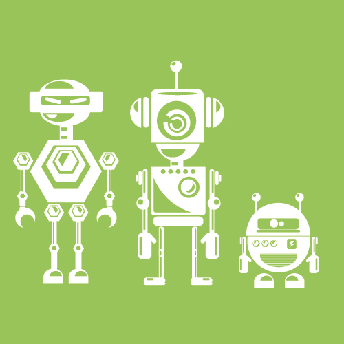Different style design robot vector