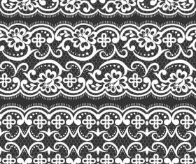 Different styles hand drawn knitted pattern vector