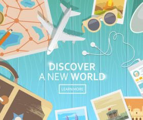 Discover a new world vector