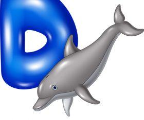 Dolphin and alphabet vector
