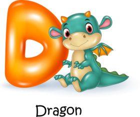Dragon and alphabet vector