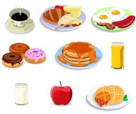 Drinks and desserts vector