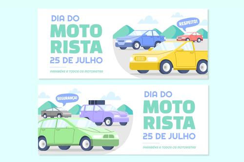 Driver holiday banner vector