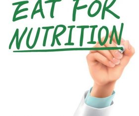 Eat for nutrition vector