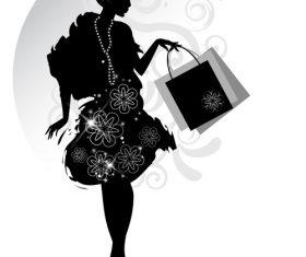 Elegant female silhouette vector
