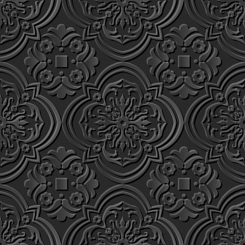 Engraving pattern vector