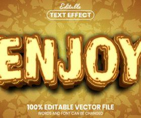 Enjoy font style editable text effect vector