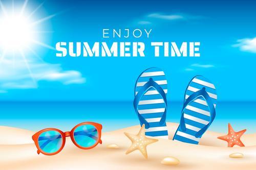 Enjoy summer time vector