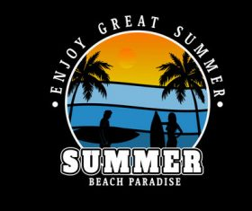 Enjoy the nice summer vector
