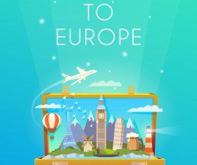 Escape to europe illustration vector