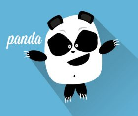 Exaggerated panda icon vector