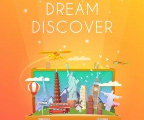 Explore dream discover illustration vector