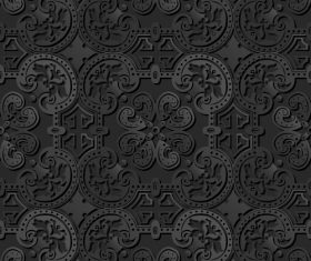 Exquisite decorative carving pattern vector