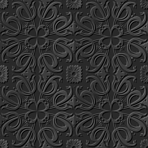 Exquisite decorative engraving pattern vector