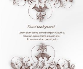 Exquisite flower background vector