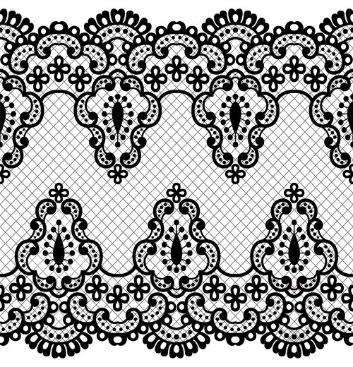 Exquisite lace patterns in vector