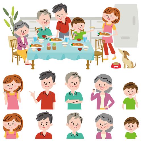Family life vector