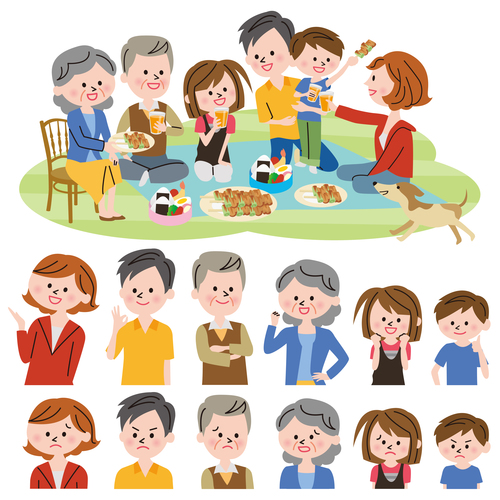 Family party vector