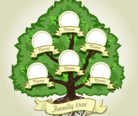 Family tree for vignettes and photo in vector