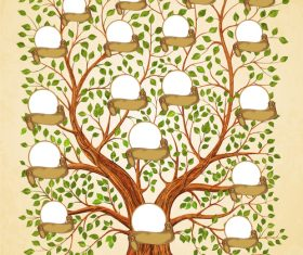 Family tree vignette vector